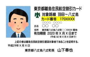 島民割引カード(見本)